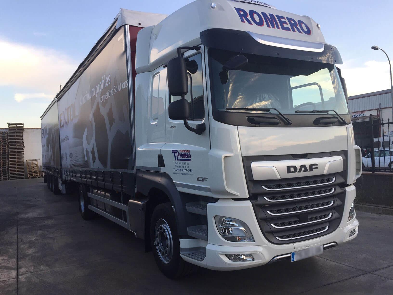 camion transportes pedro romero
